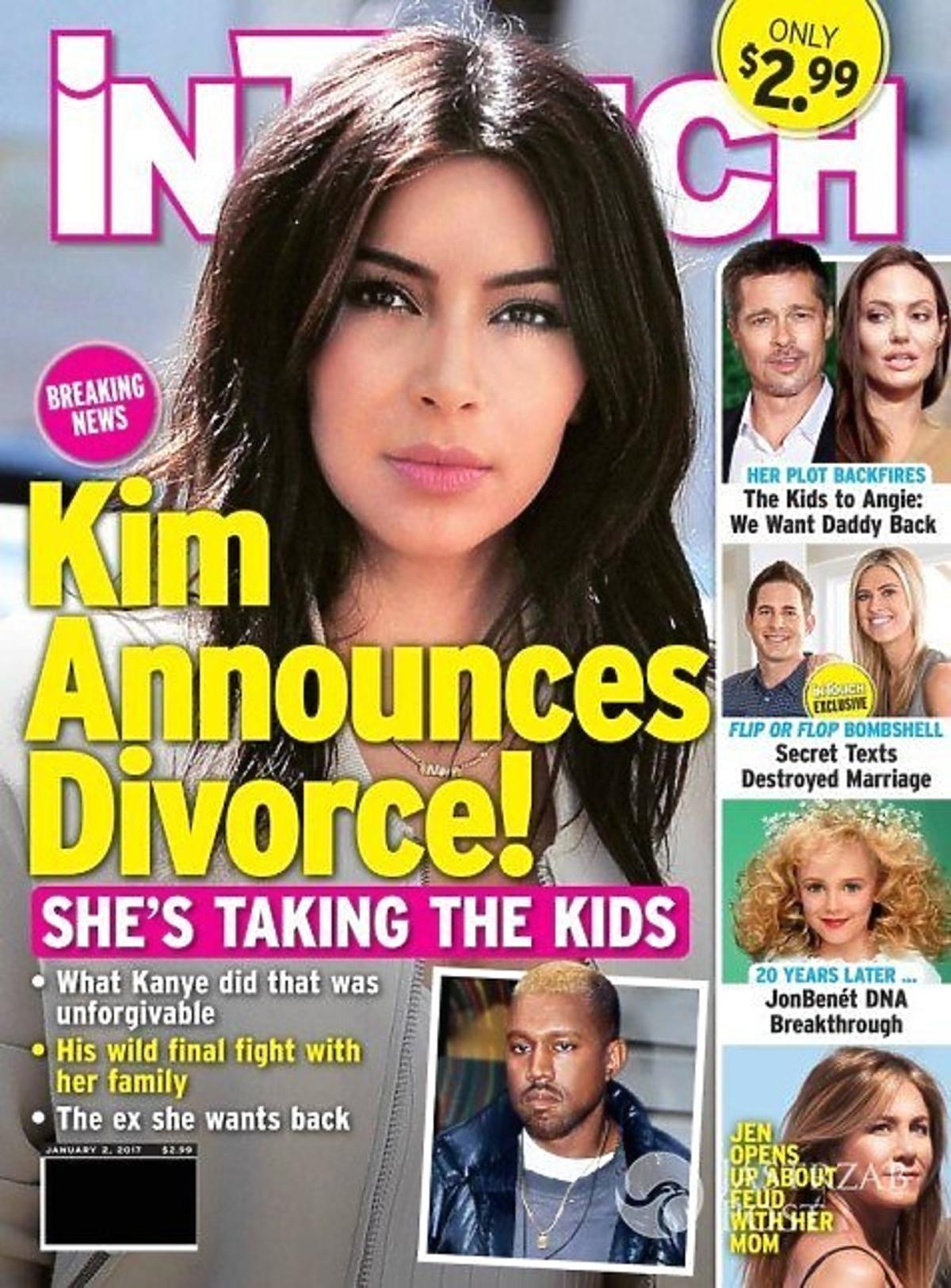 Kim Kardashian na okładce In Touch
