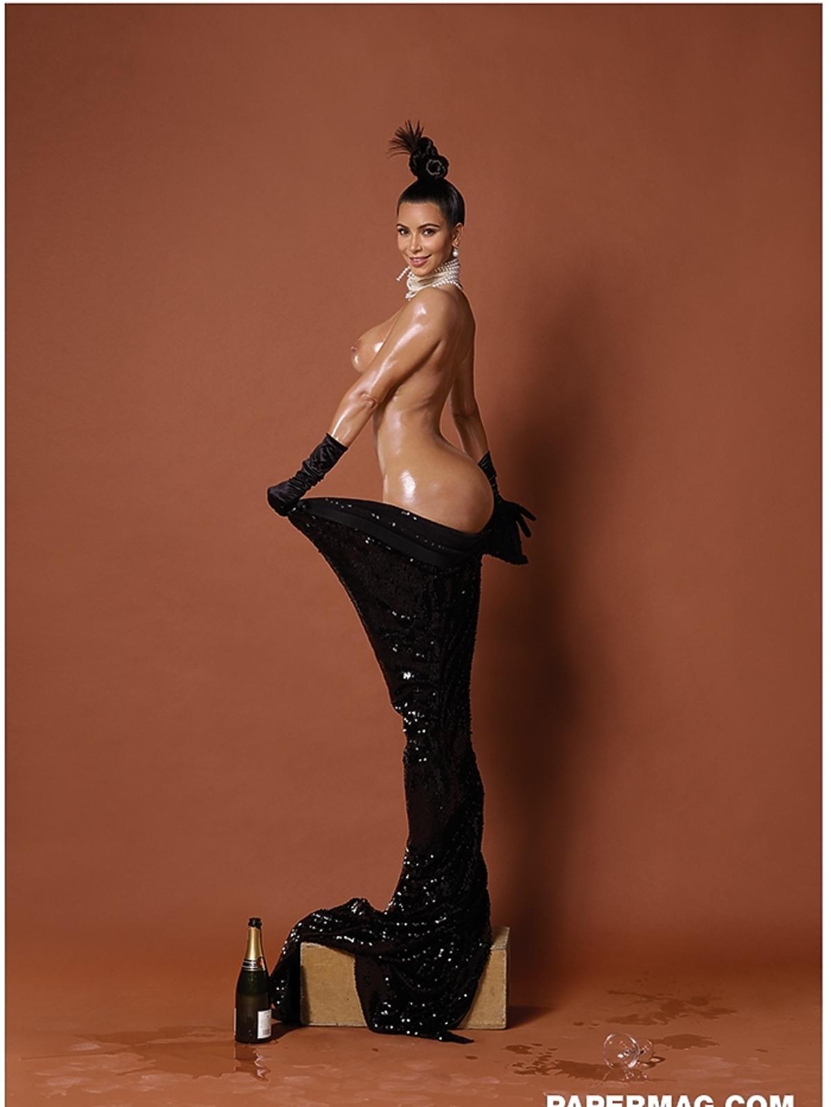 Kim Kardashian nago w Paper Mag