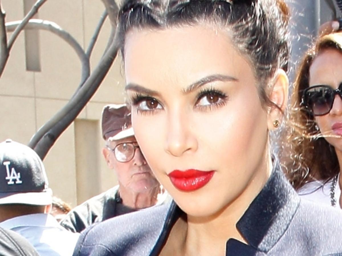 Kim Kardashian pierwszy raz po porodzie
