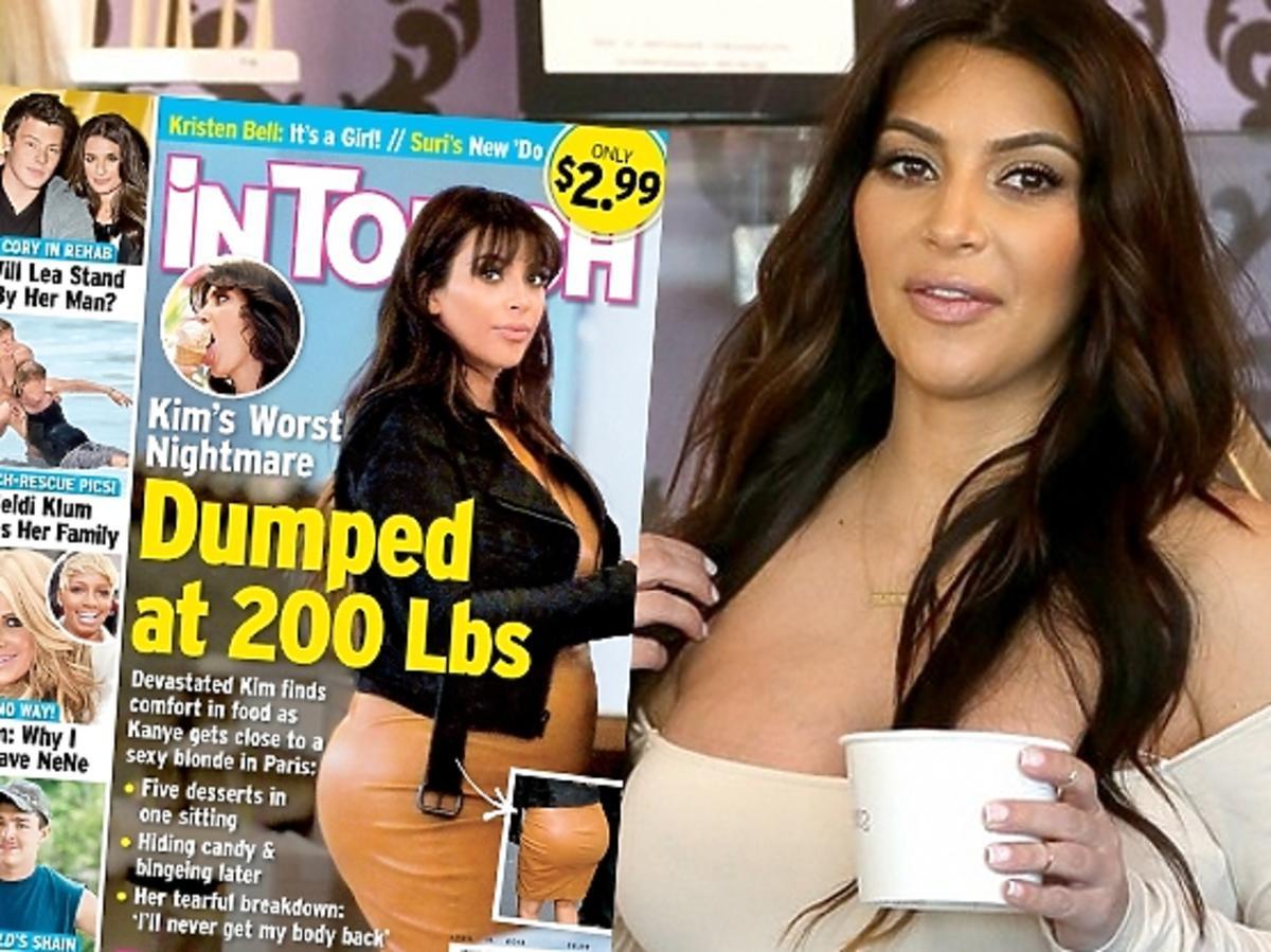 Kim Kardashian przytyła w ciąży 30 kilo
