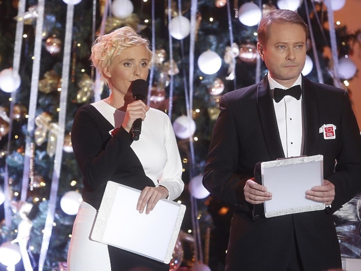 Kinga Preis i Artur Żmijewski podczas świątecznego koncertu w Pałacu Prezydenckim