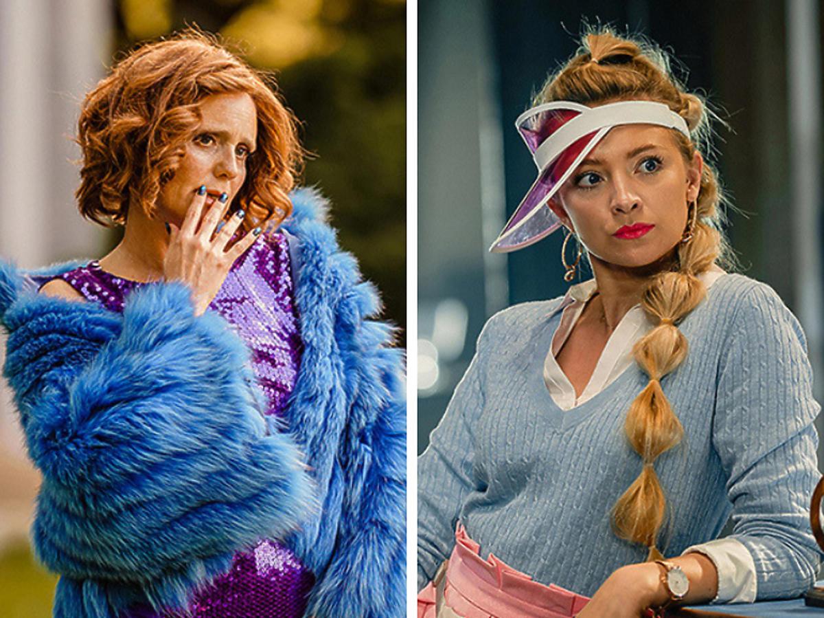 """Kinga Preis i Barbara Kurdej-Szatan na planie serialu """"Mały Grand Hotel"""""""