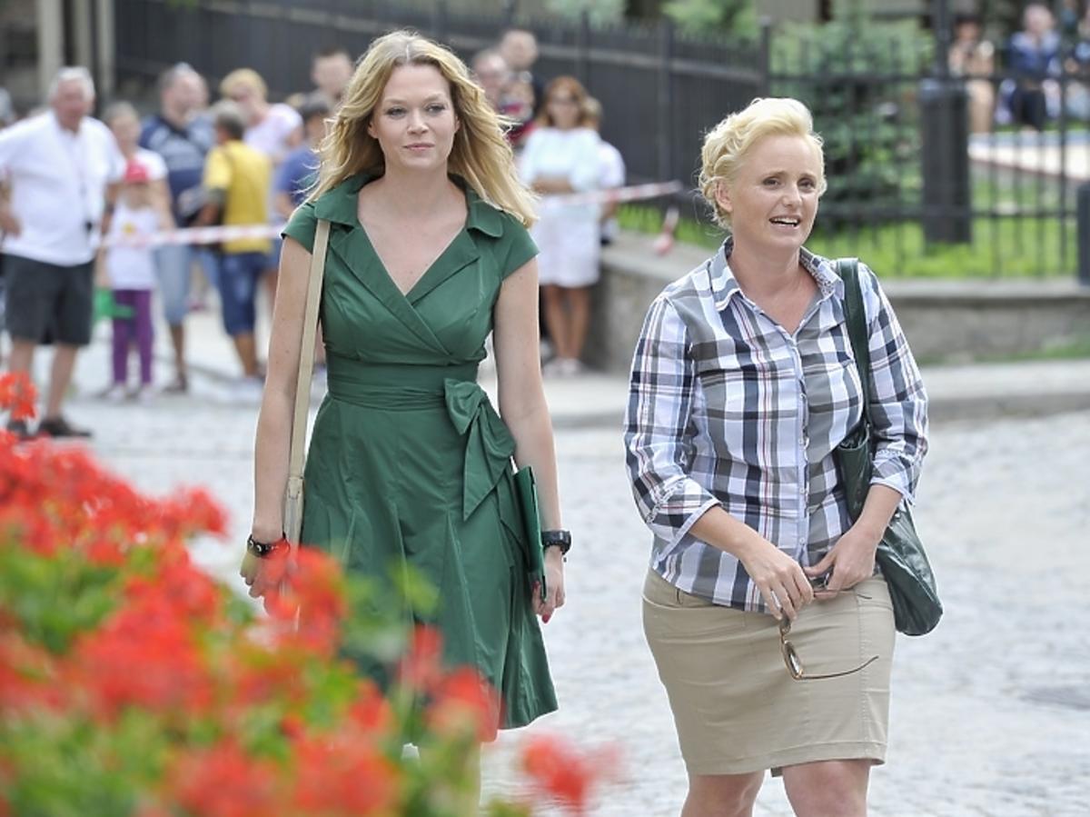 Kinga Preis i Tamara Arciuch na planie serialu