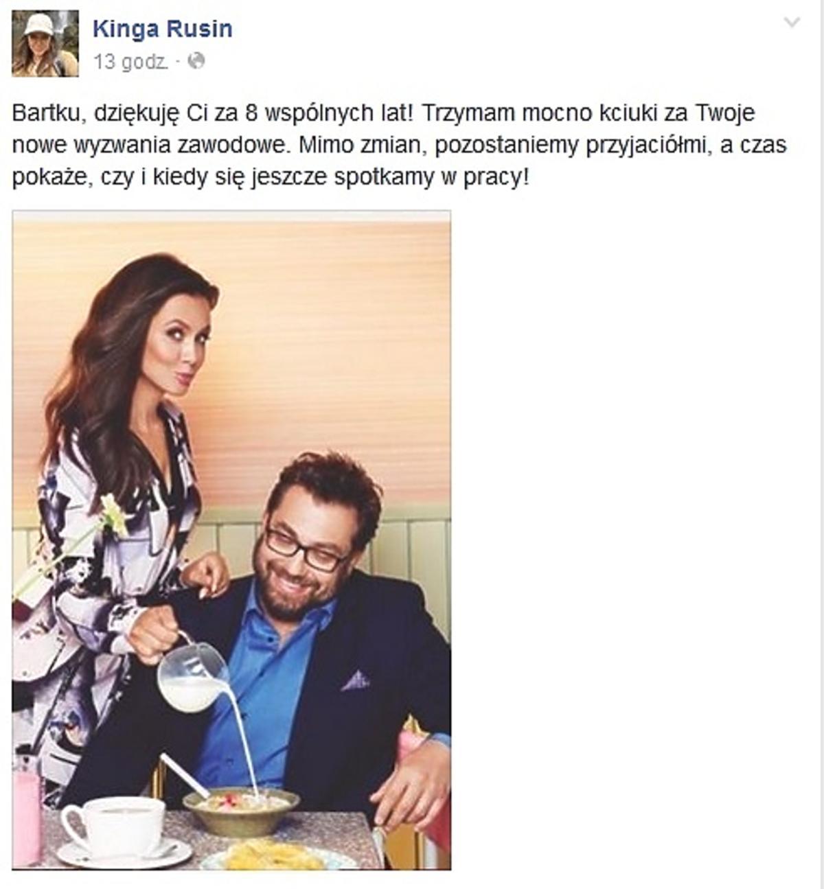 Kinga Rusin, Bartosz Węglarczyk