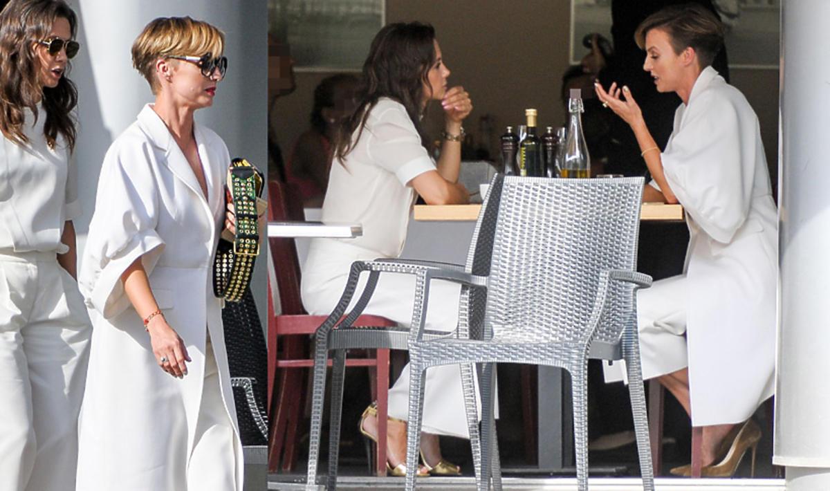 Kinga Rusin i Katarzyna Sokołowska na spotkaniu w restauracji