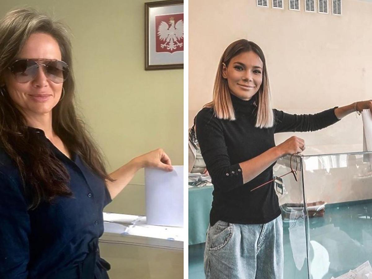 Kinga Rusin i Maja Bohosiewicz głosują w wyborach