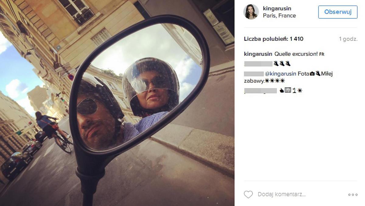 Kinga Rusin pochwaliła się fotkami z Paryża