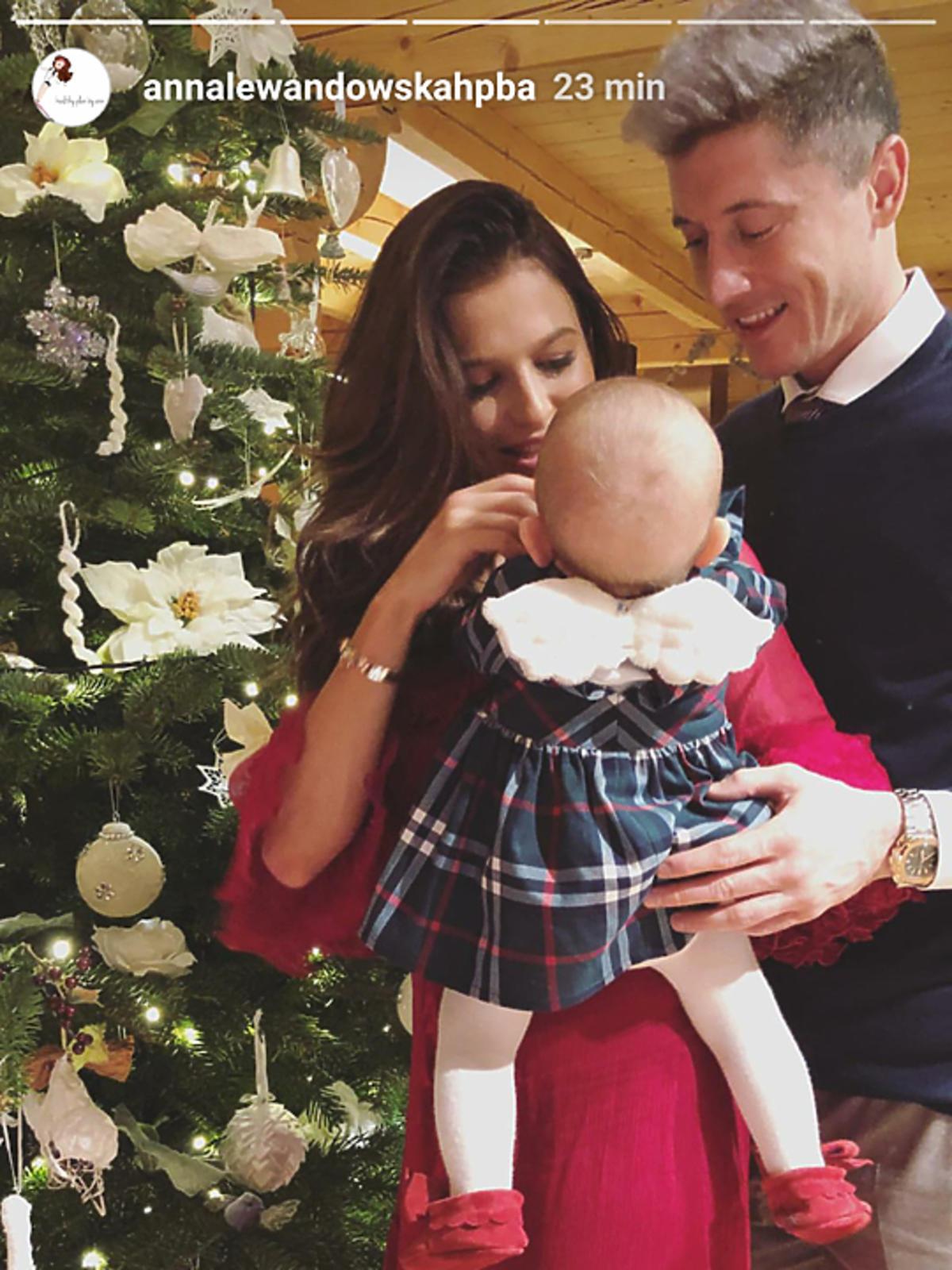 Klara Lewandowska i jej pierwsze święta Bożego Narodzenia