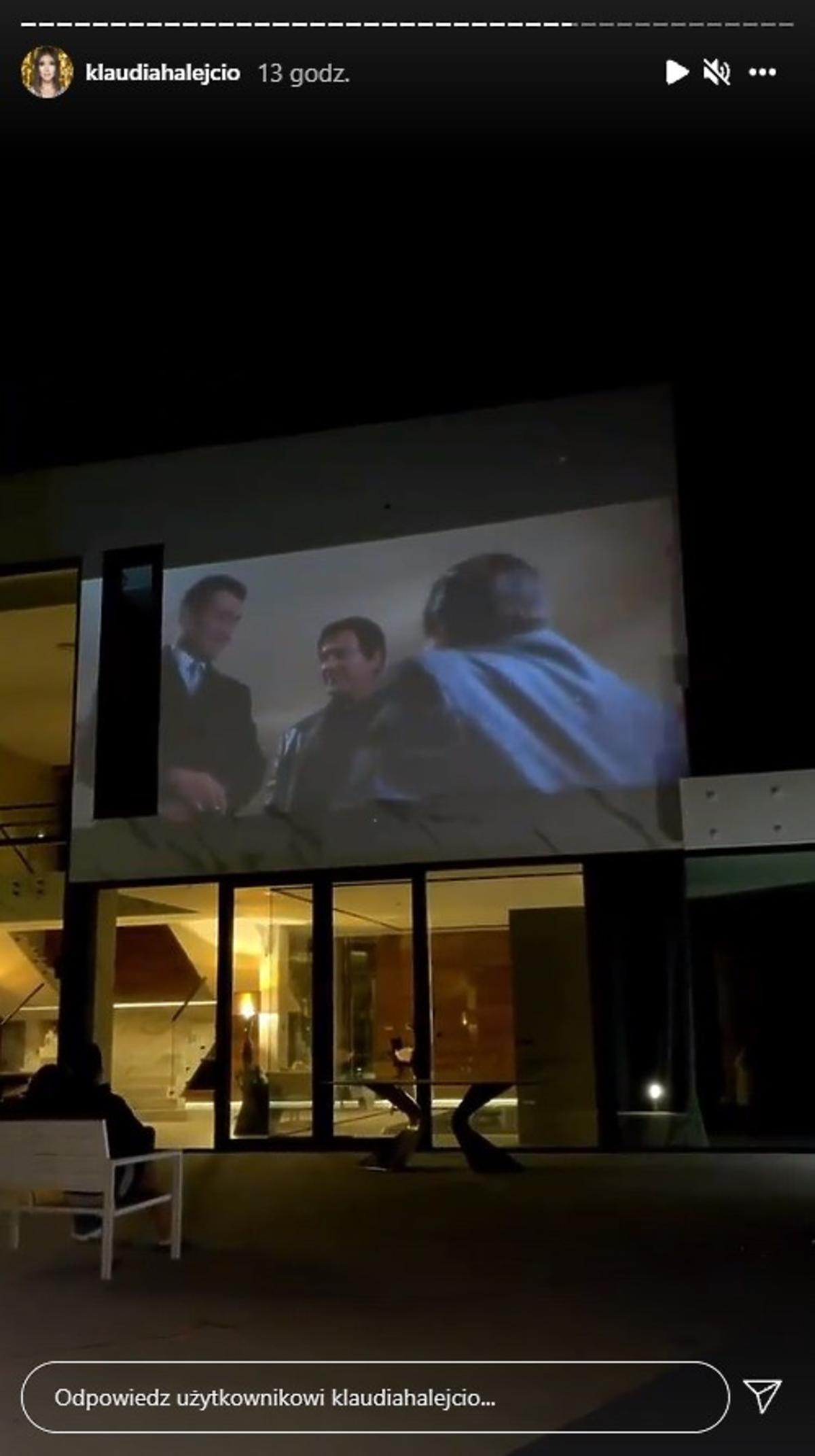Klaudia Halejcio pokazała kino w domu