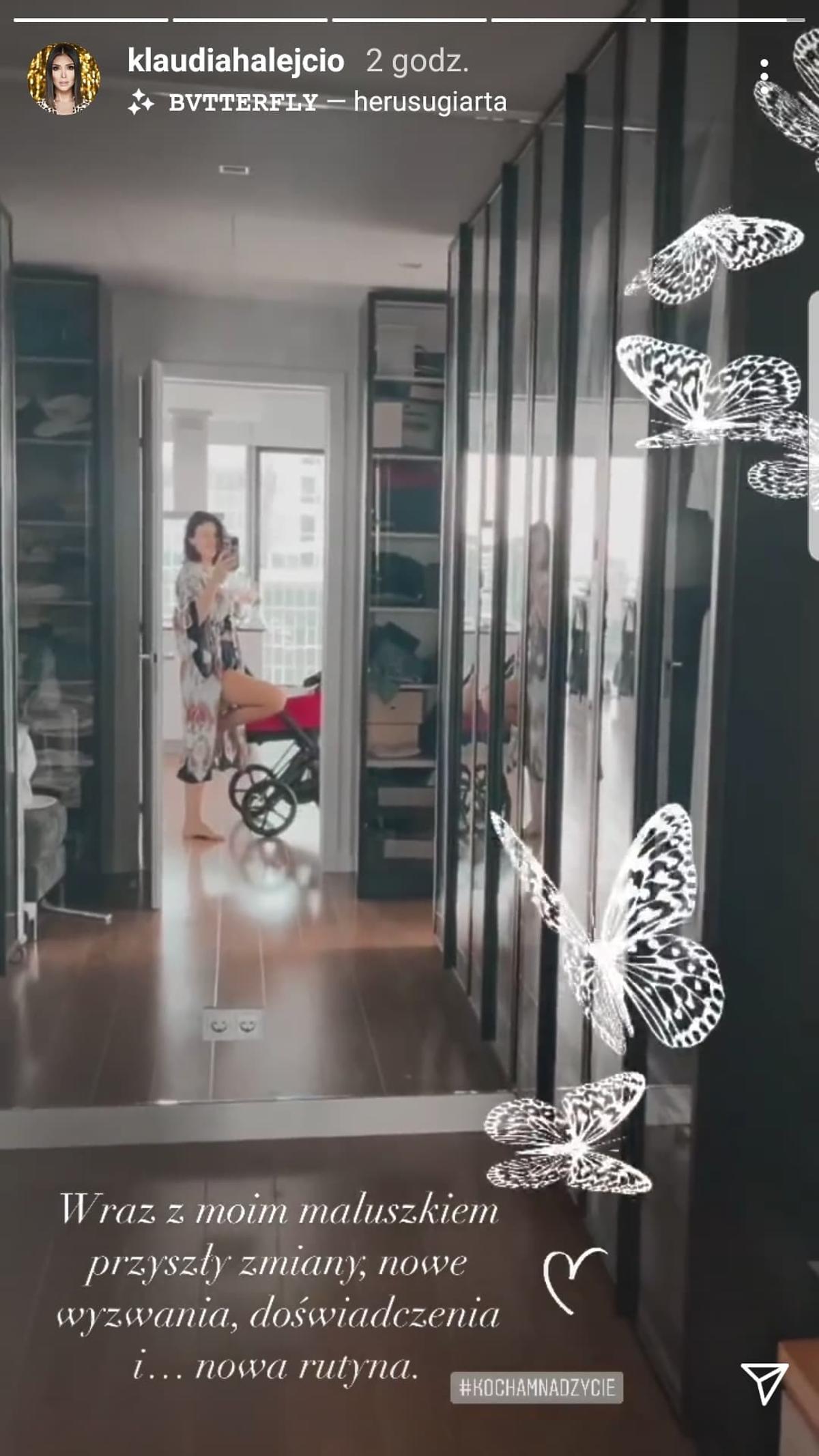 Klaudia Halejcio pokazała wózek córki