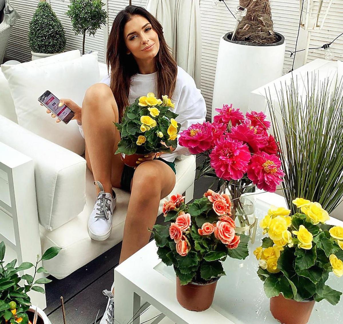 Klaudia Halejcio w domu, zdjęcie z Instagrama