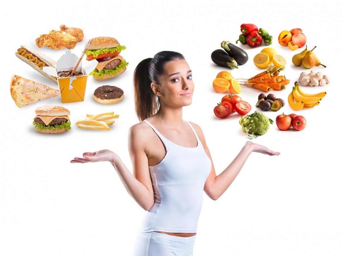 Kobieta i jedzenie