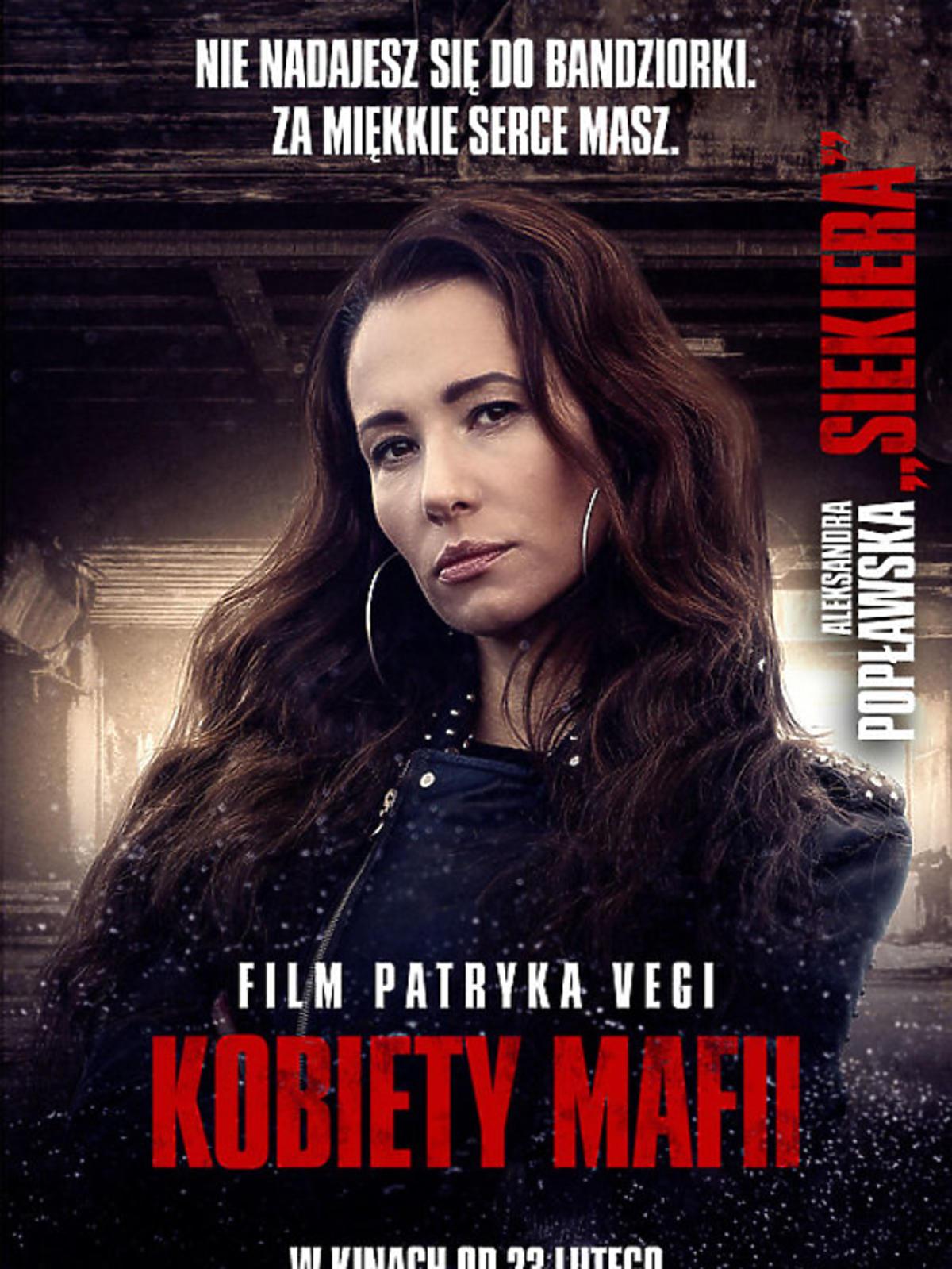 Kobiety mafii -  Aleksandra Popławska na plakacie