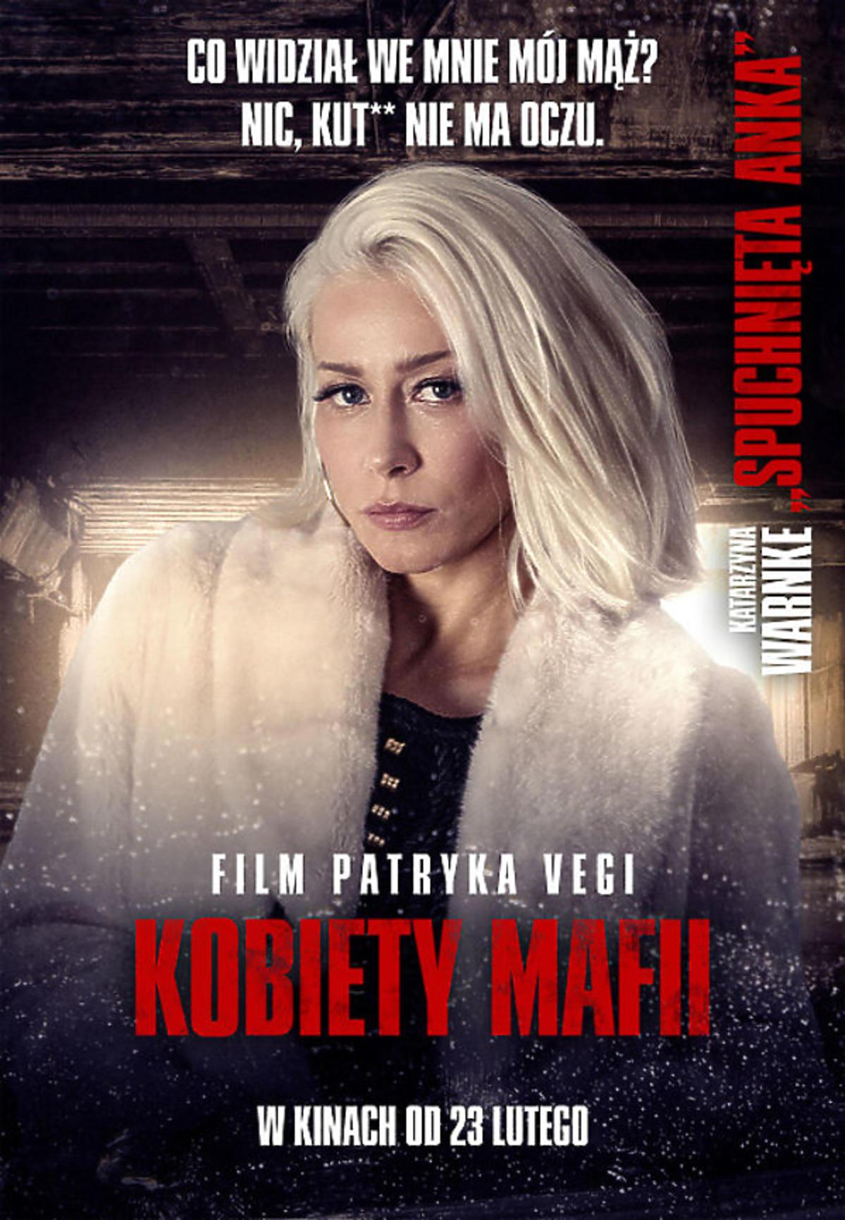 Kobiety mafii - Katarzyna Warnke na plakacie