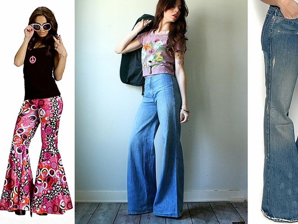 Kobiety w spodniach typu dzwony