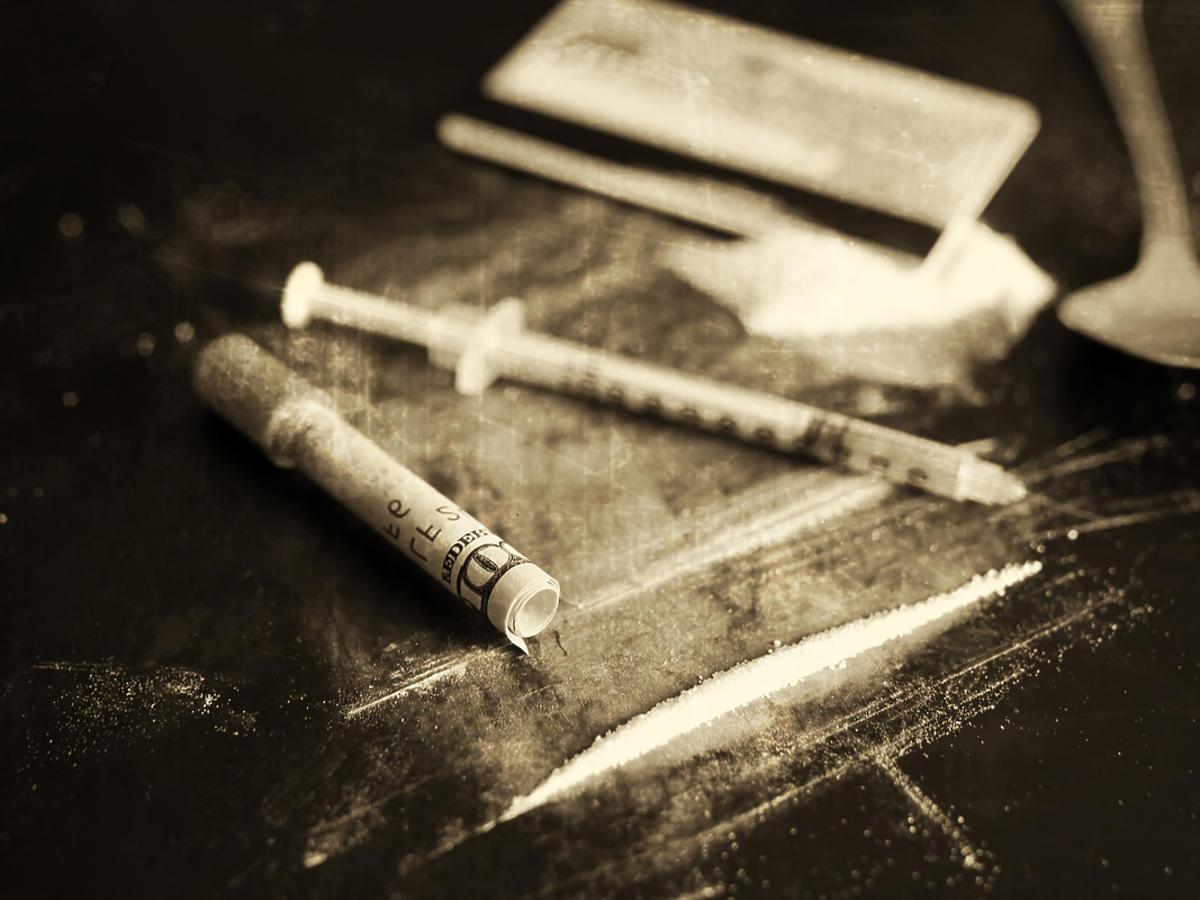 Kokaina w formie proszku
