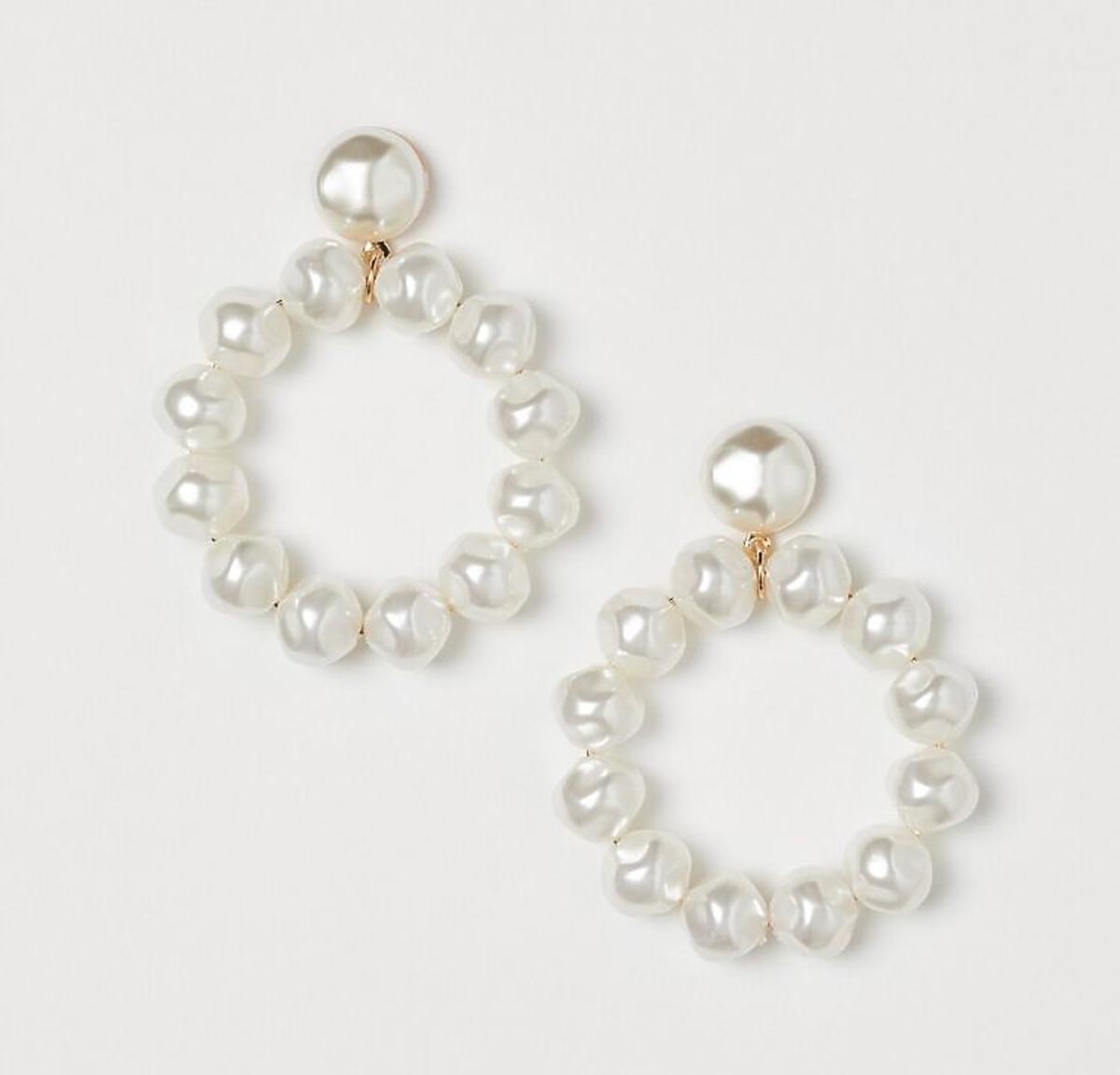 Kolczyki koła z perłami wyprzedaż H&M