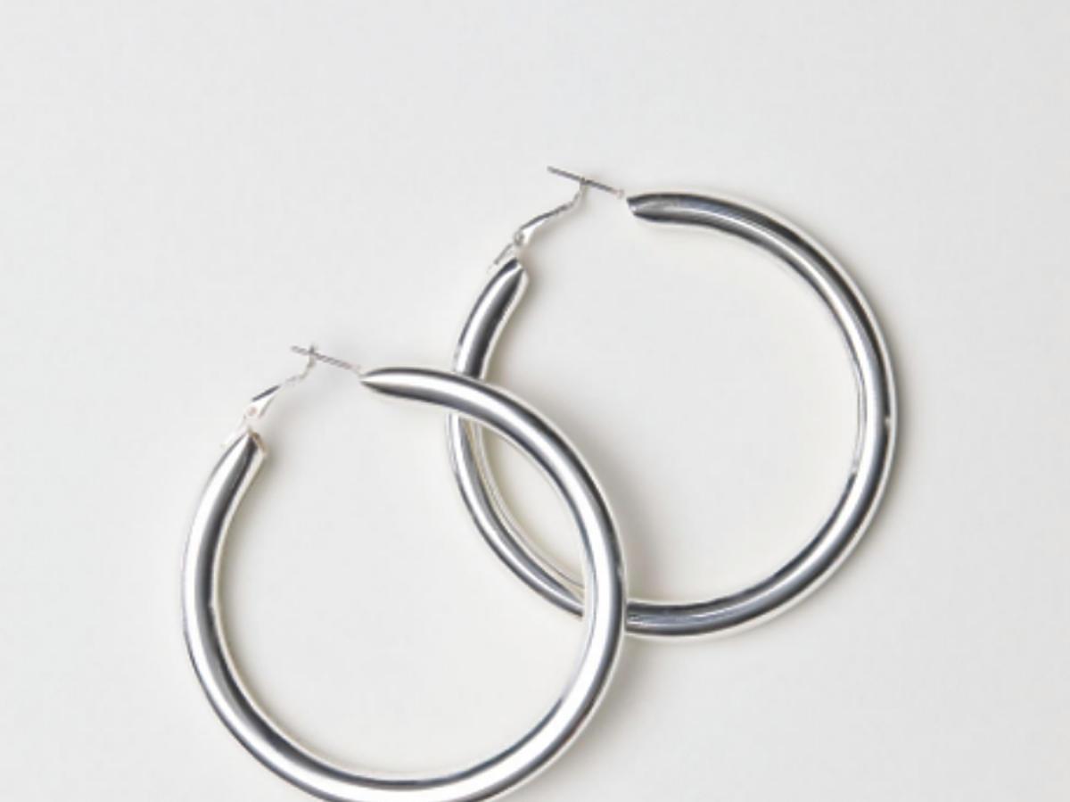 kolczyki srebrne koła H&M
