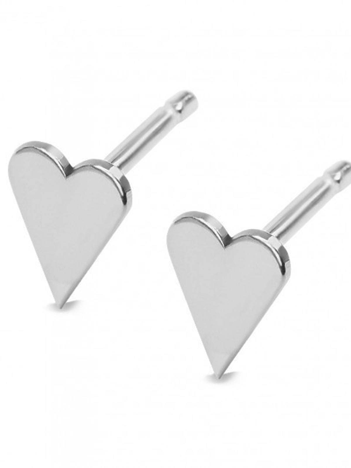kolczyki w serduszka srebrne