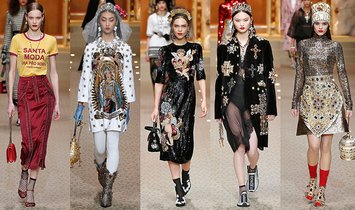 Kolekcja Dolce & Gabbana jesień/zima 18 / Tag-Walk