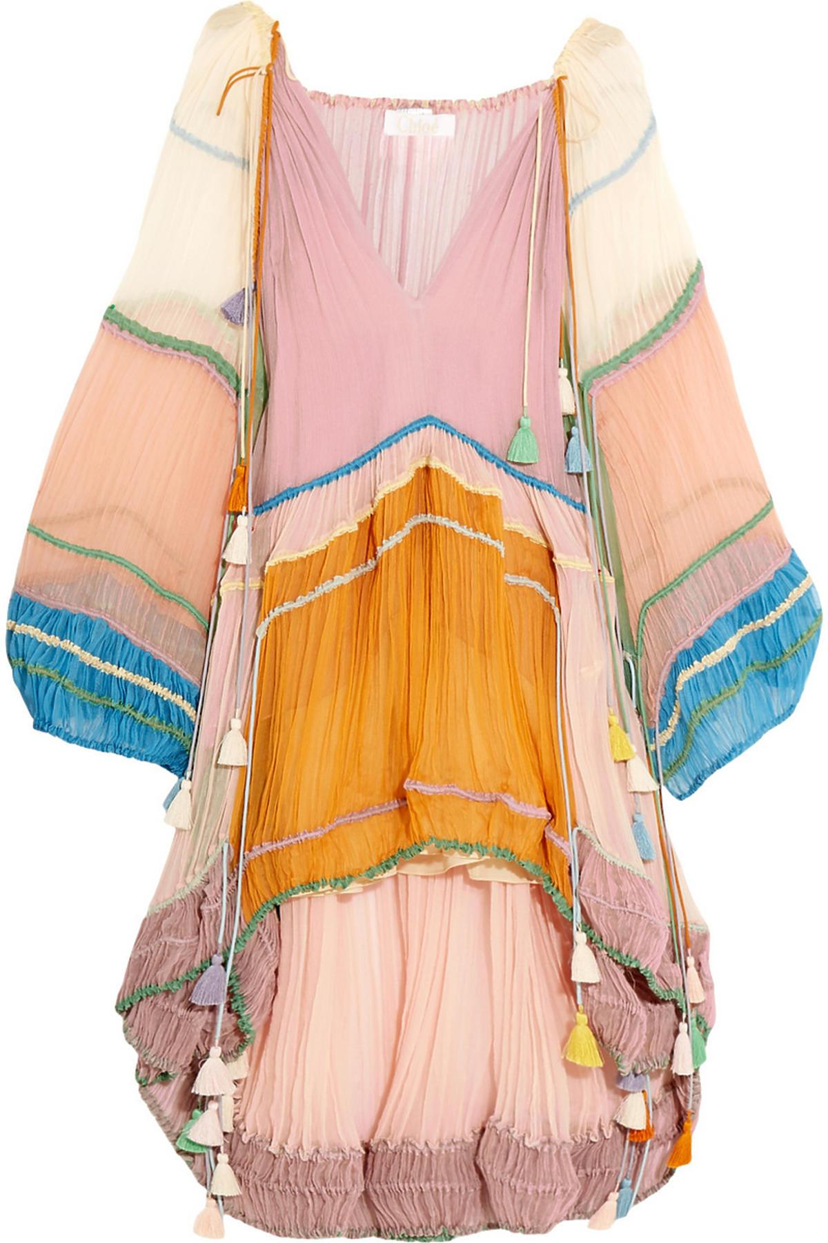 Kolorowa sukienka Chloe