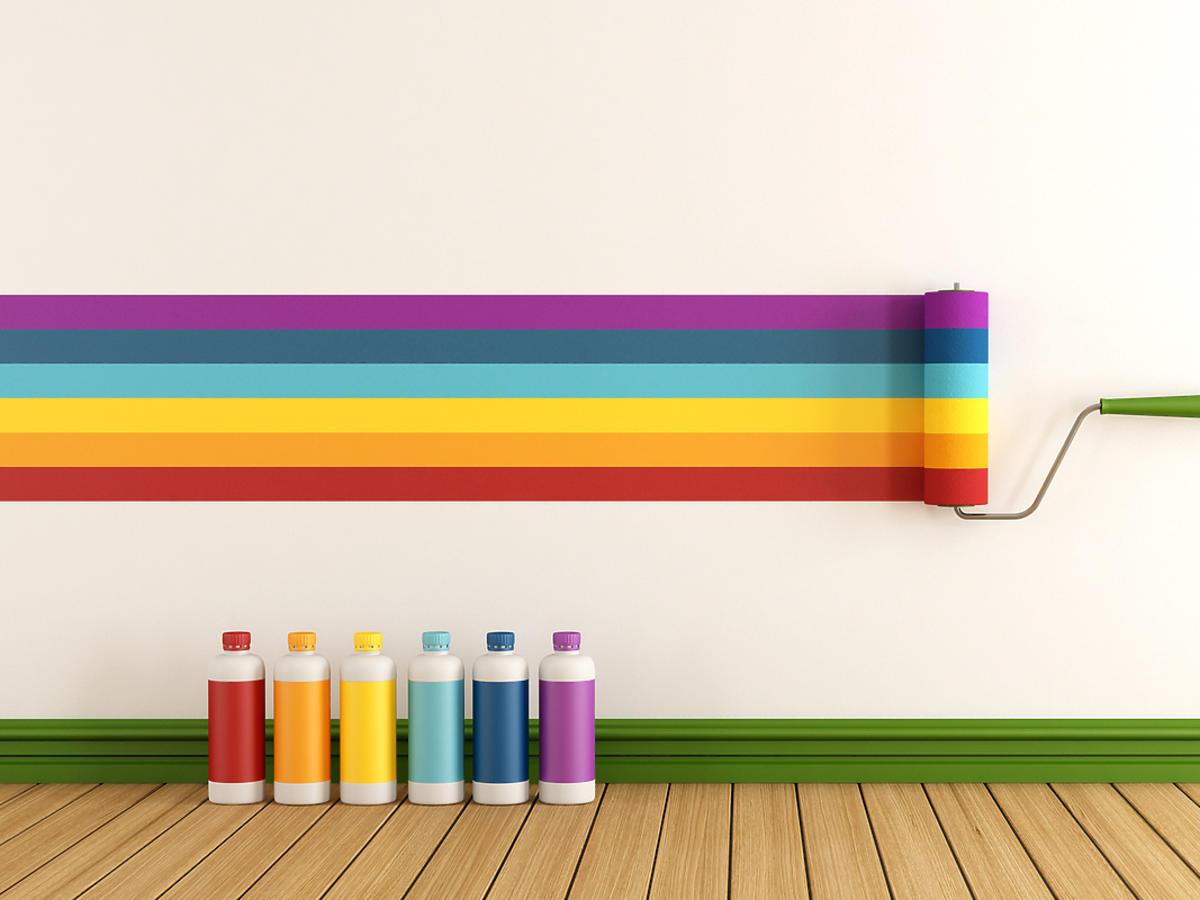 Kolorowe farby do ścian
