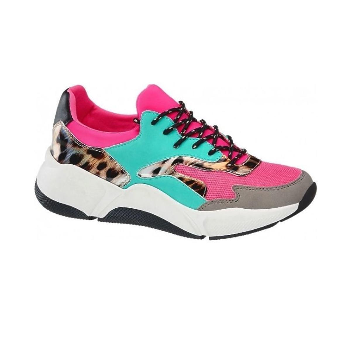 kolorowe sneakersy Deichmann