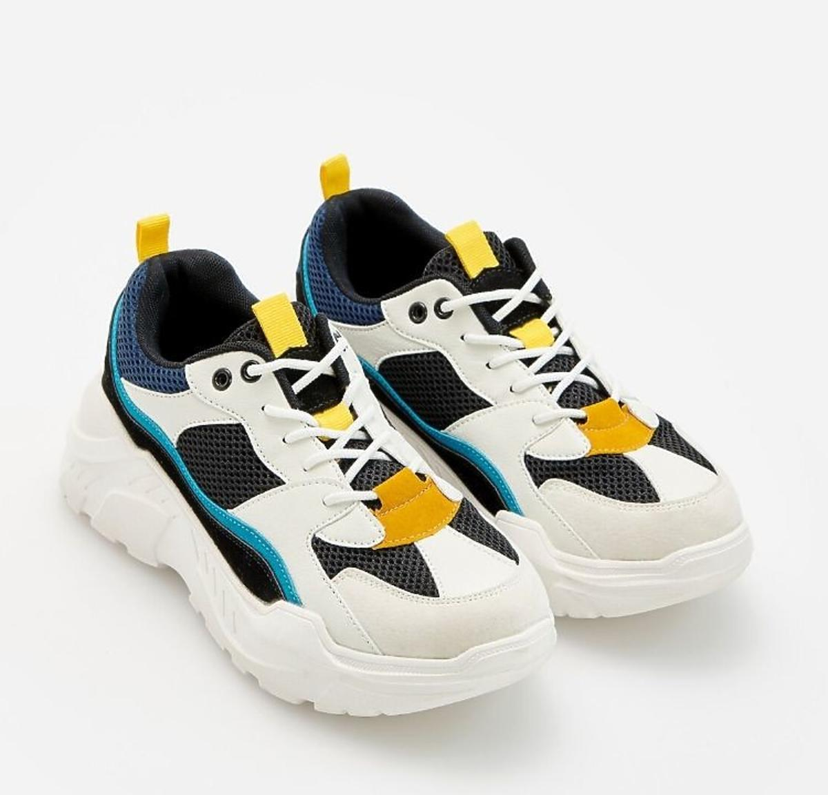 Kolorowe sneakersy Reserved kolekcja wiosna-lato 2020