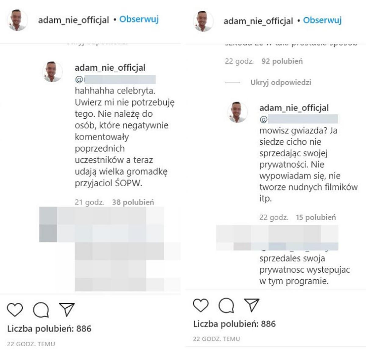 Komentarze Adama ze
