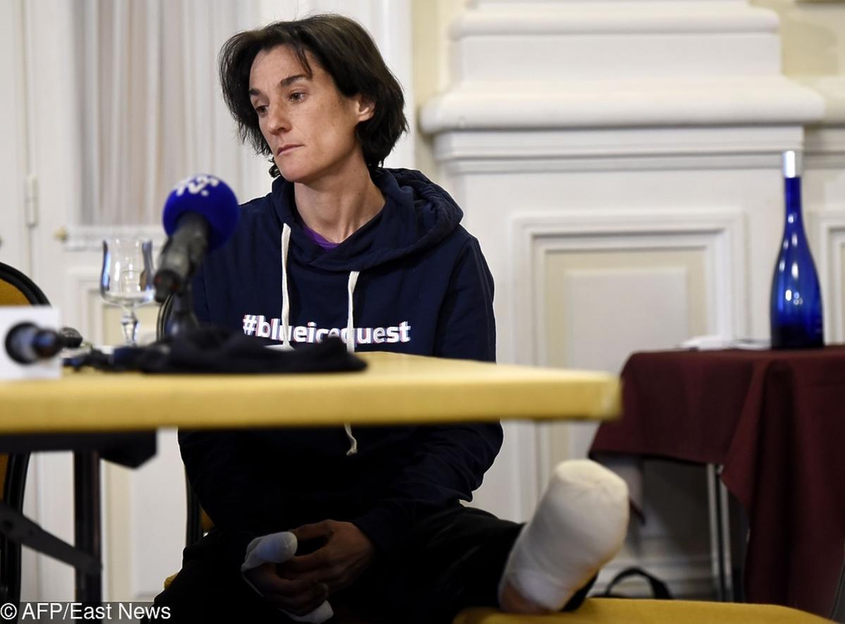Konferencja prasowa z udziałem Elisabeth Revol