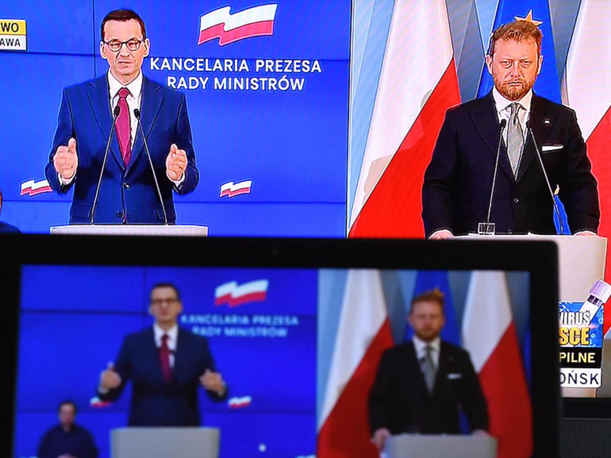 Konferencja prasowe Mateusza Morawieckiego