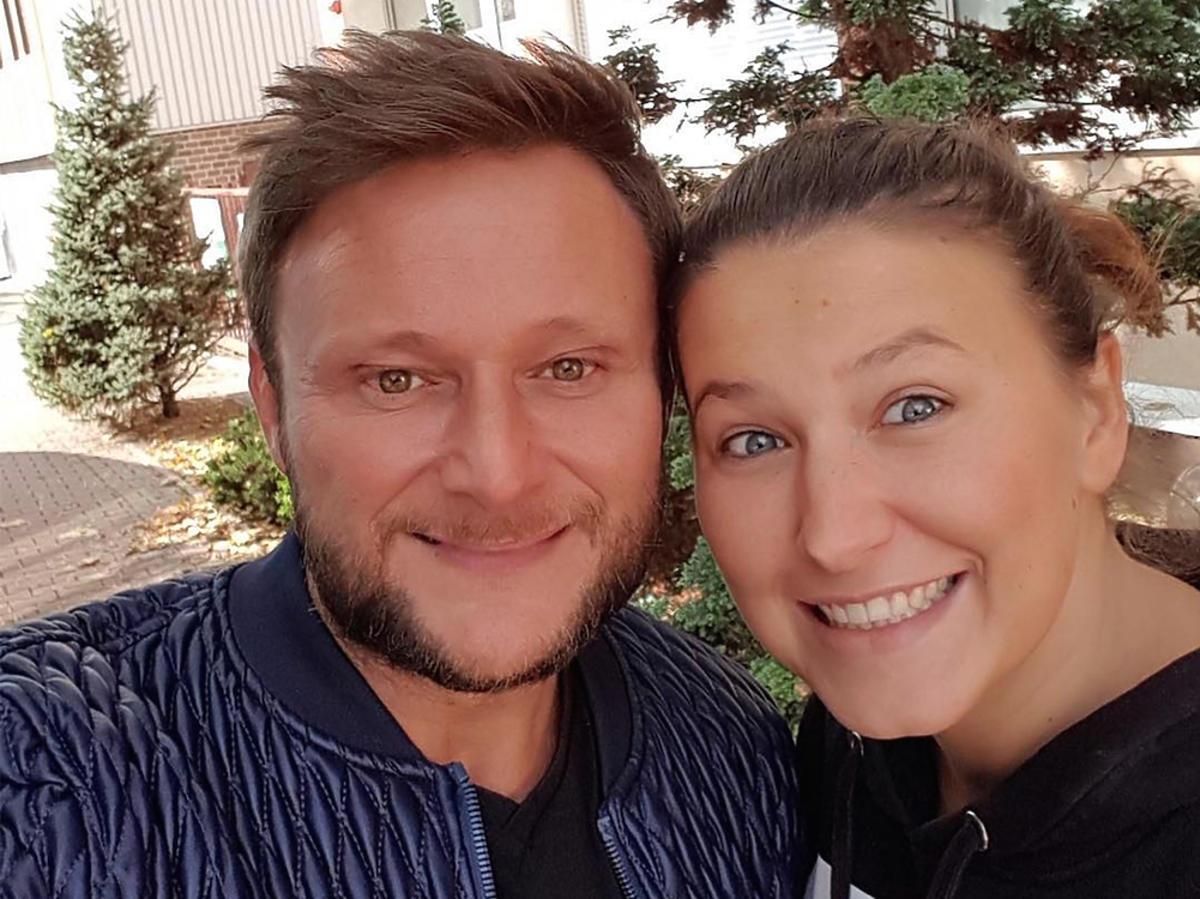 Konrad Gaca z żoną Patrycją