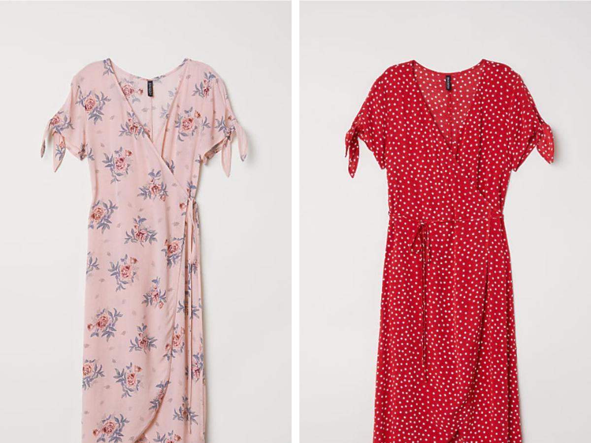 Kopertowa sukienka H&M