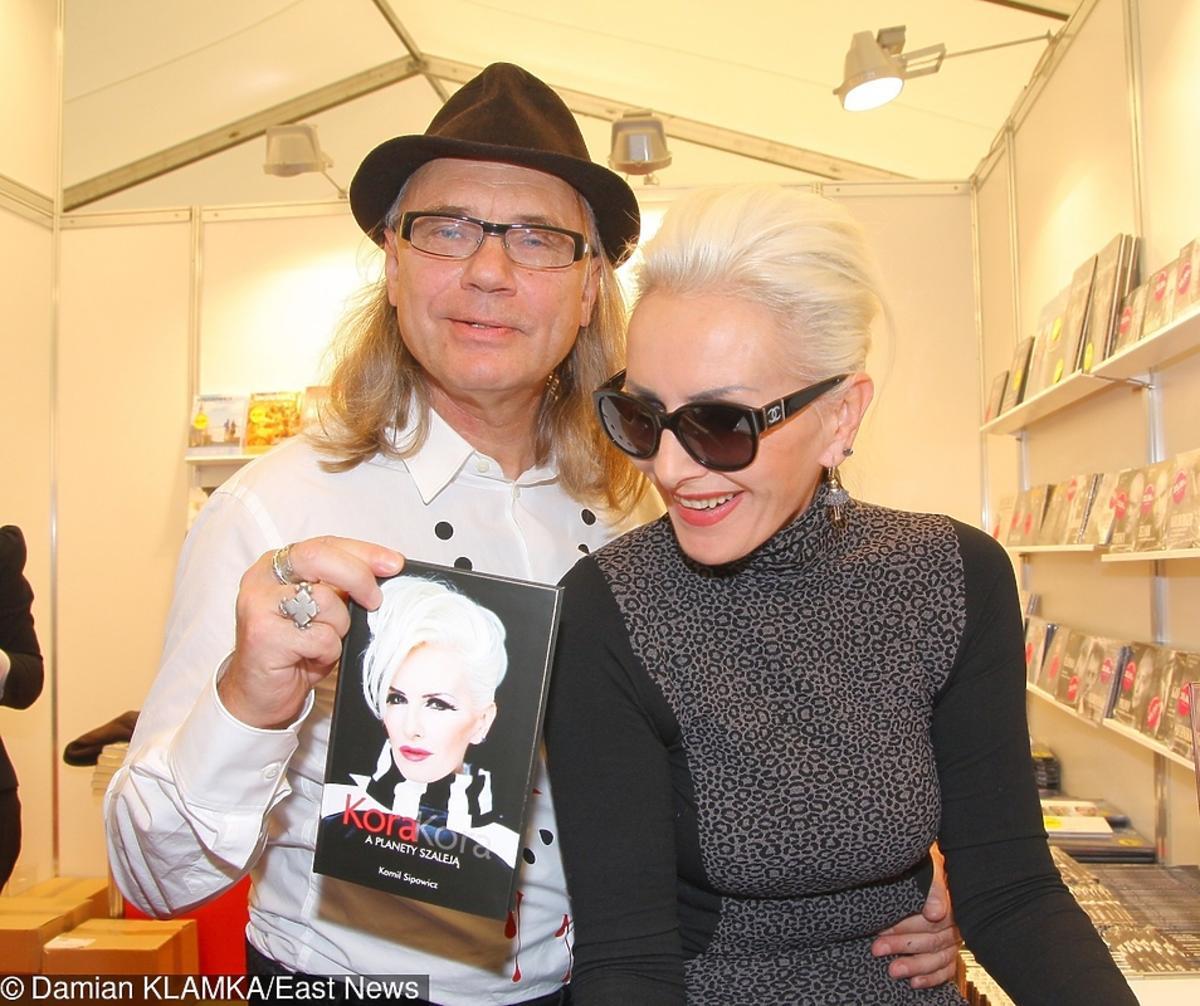 Kora i Kamil Sipowicz na promocji książki Kory