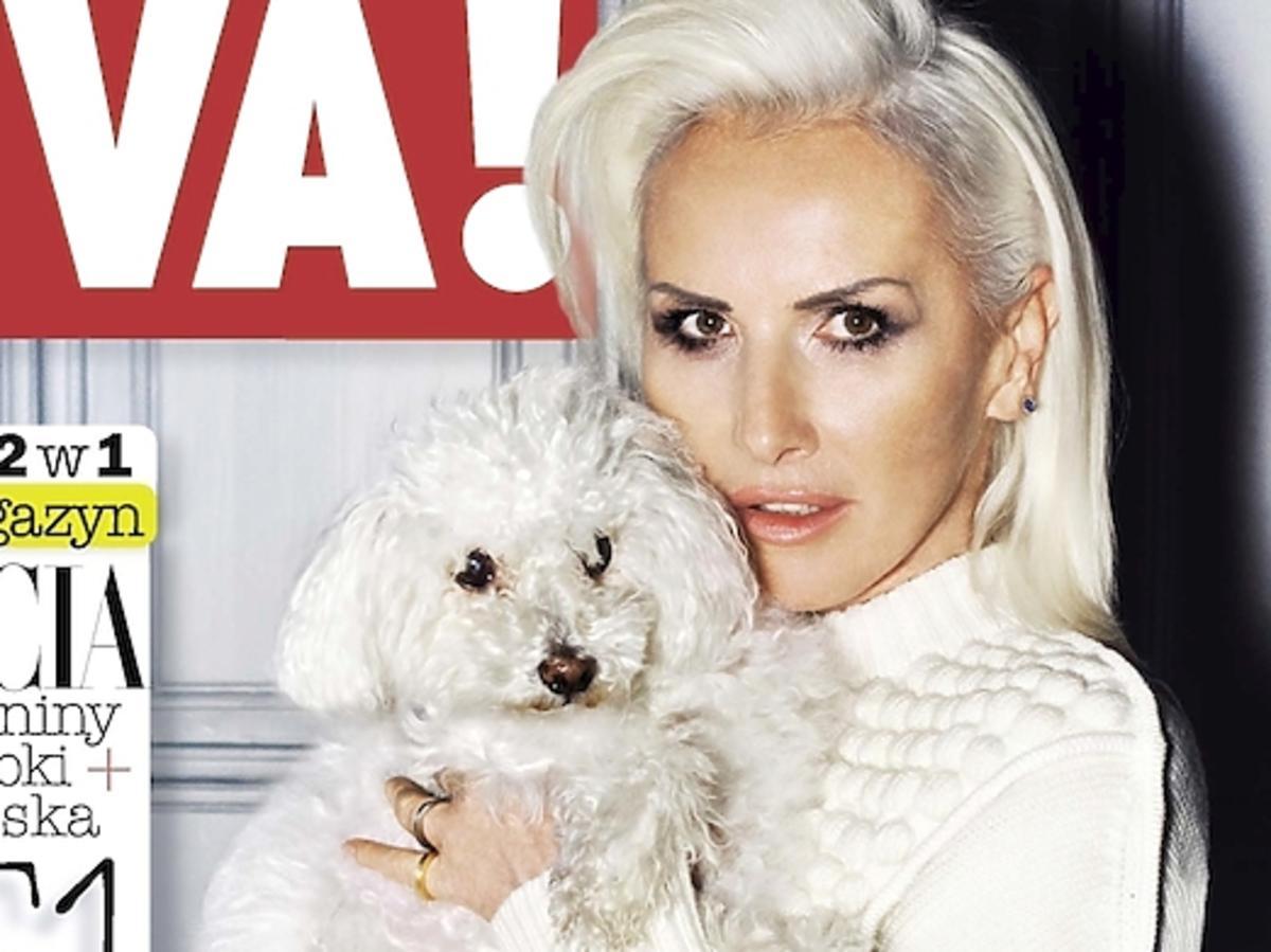 Kora z psem na okładce Vivy!