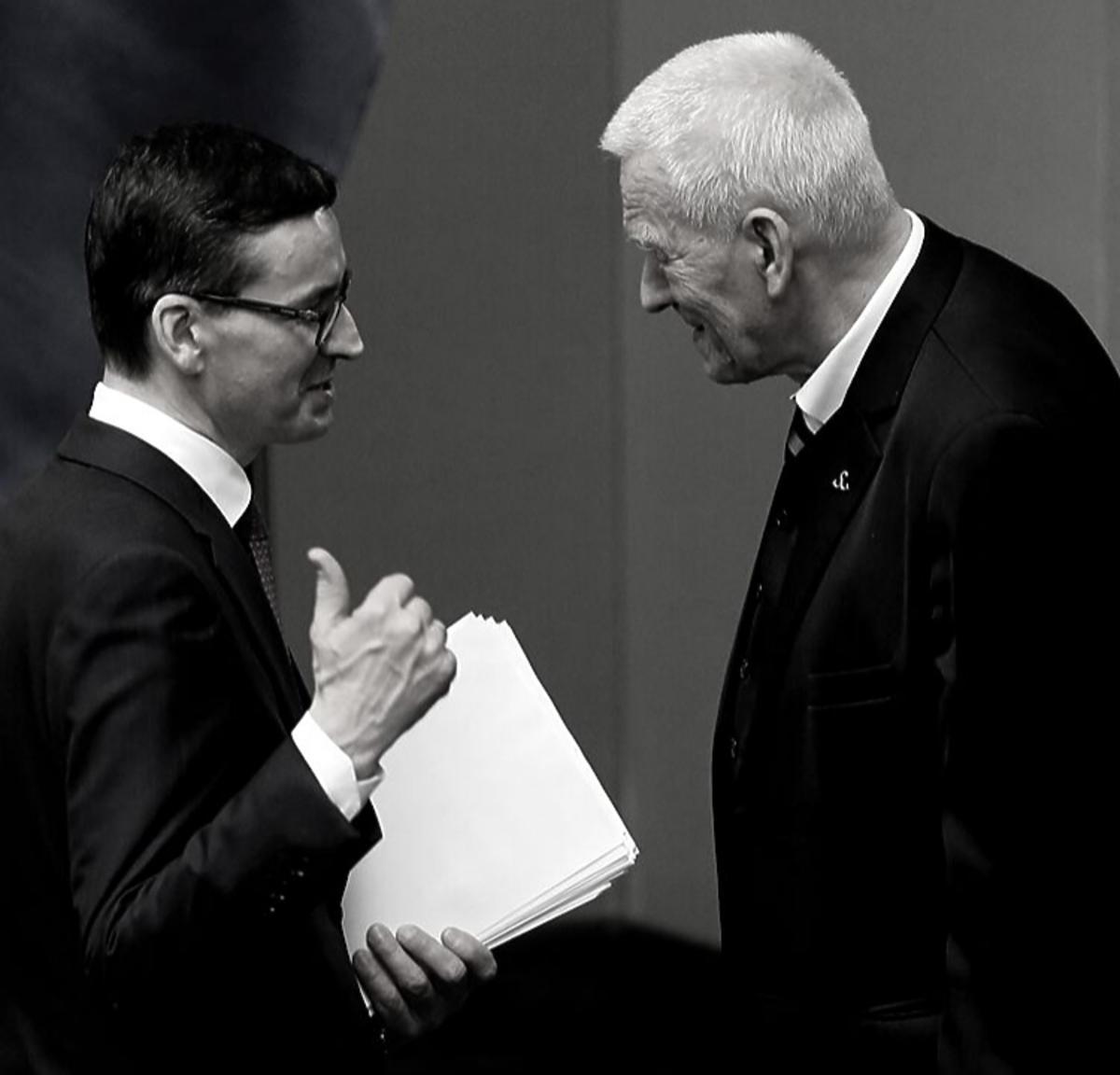 Kornel Morawiecki i Mateusz Morawiecki