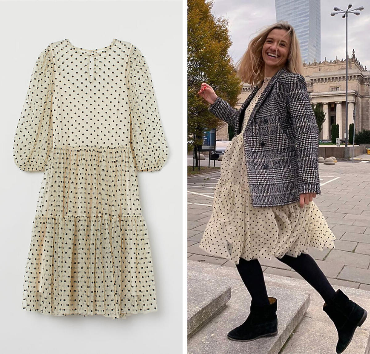Koroniewska w sukience z H&M