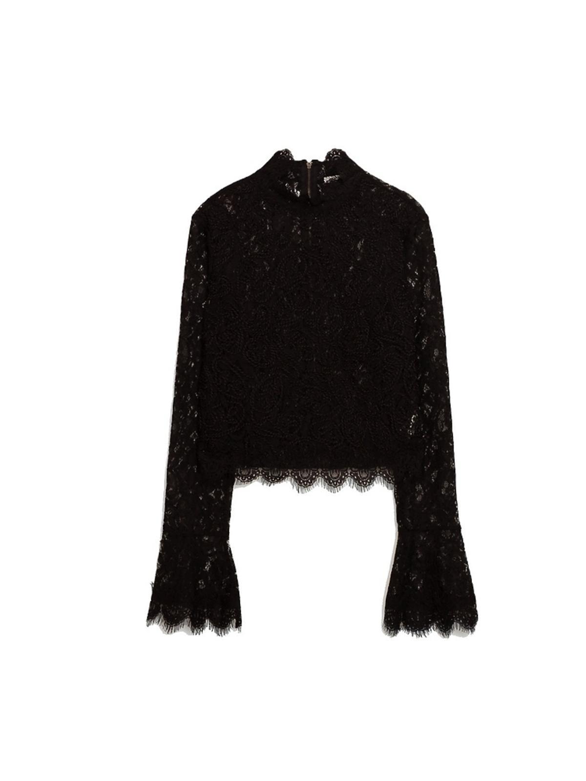 Koronkowa bluzka z haftem Zara