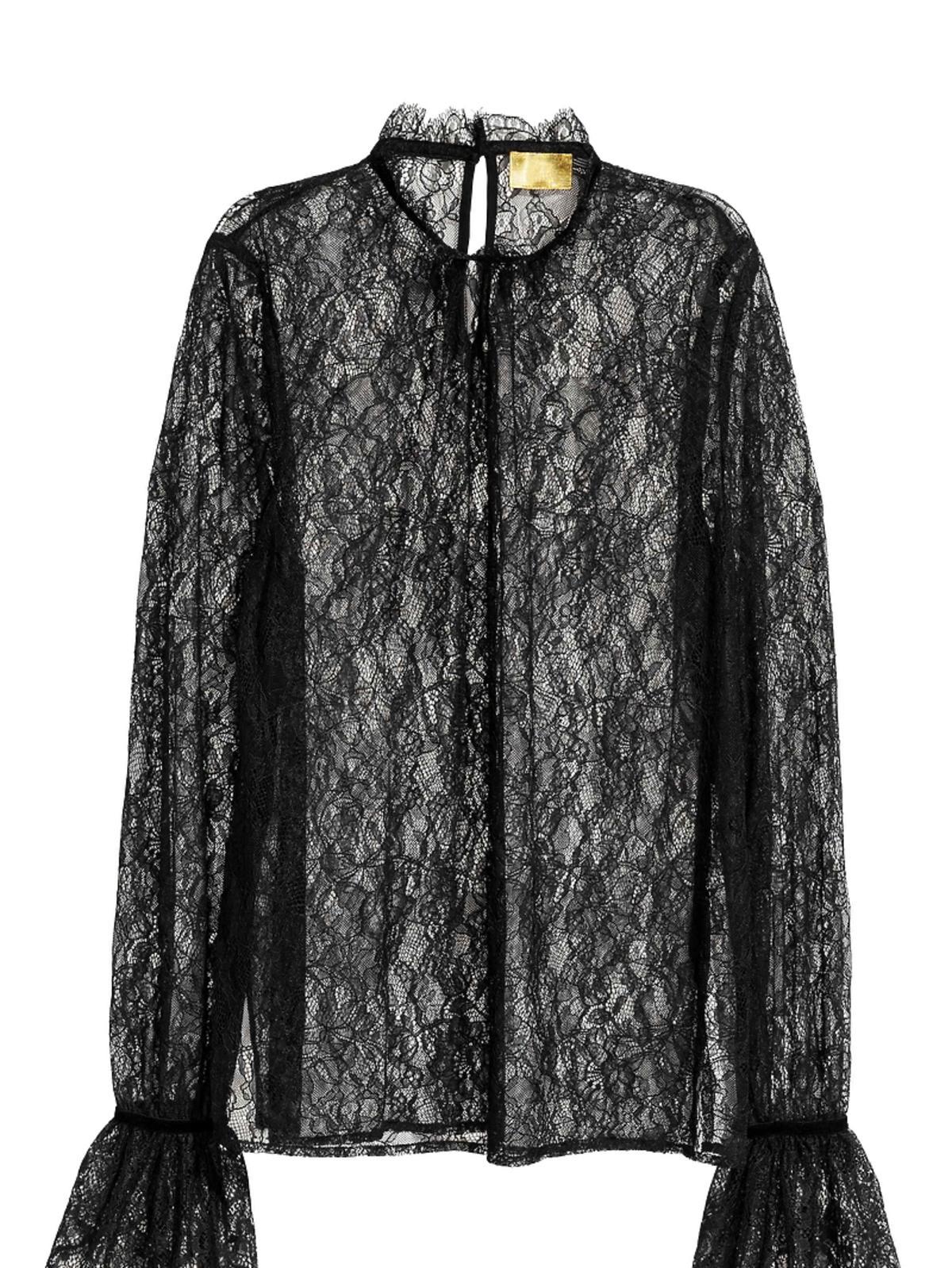 Koronkowa bluzka z supermodnym, wiktoriańskim dekoltem H&M
