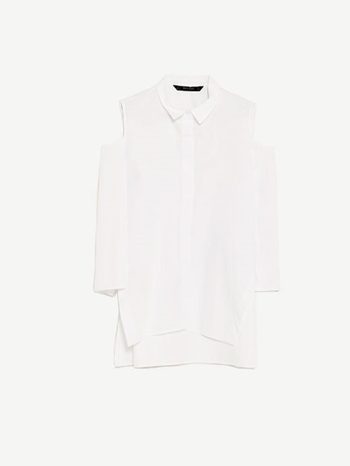 Koszula z odkrytymi rękawami, Zara, 99,90 zł