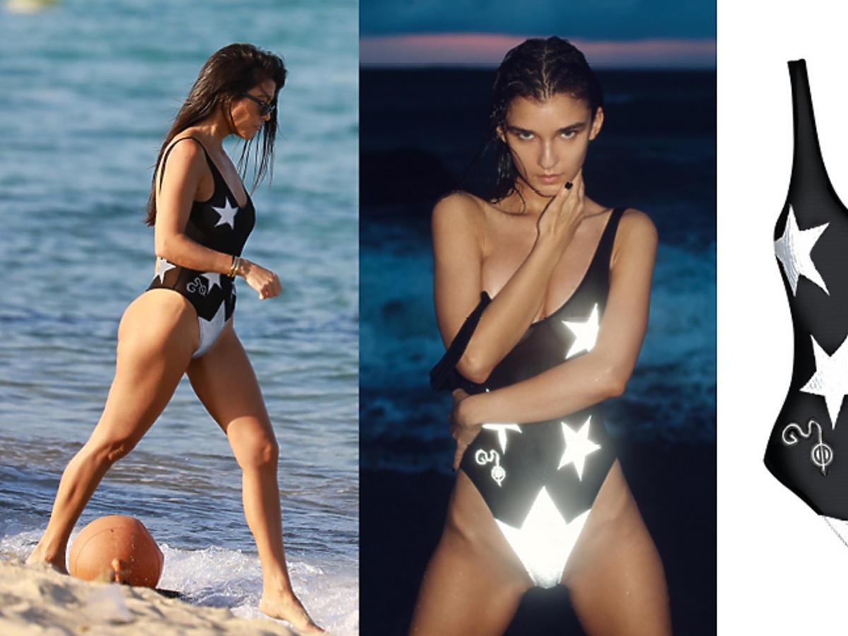 Kourtney Kardashian w kostiumie God Save Queens
