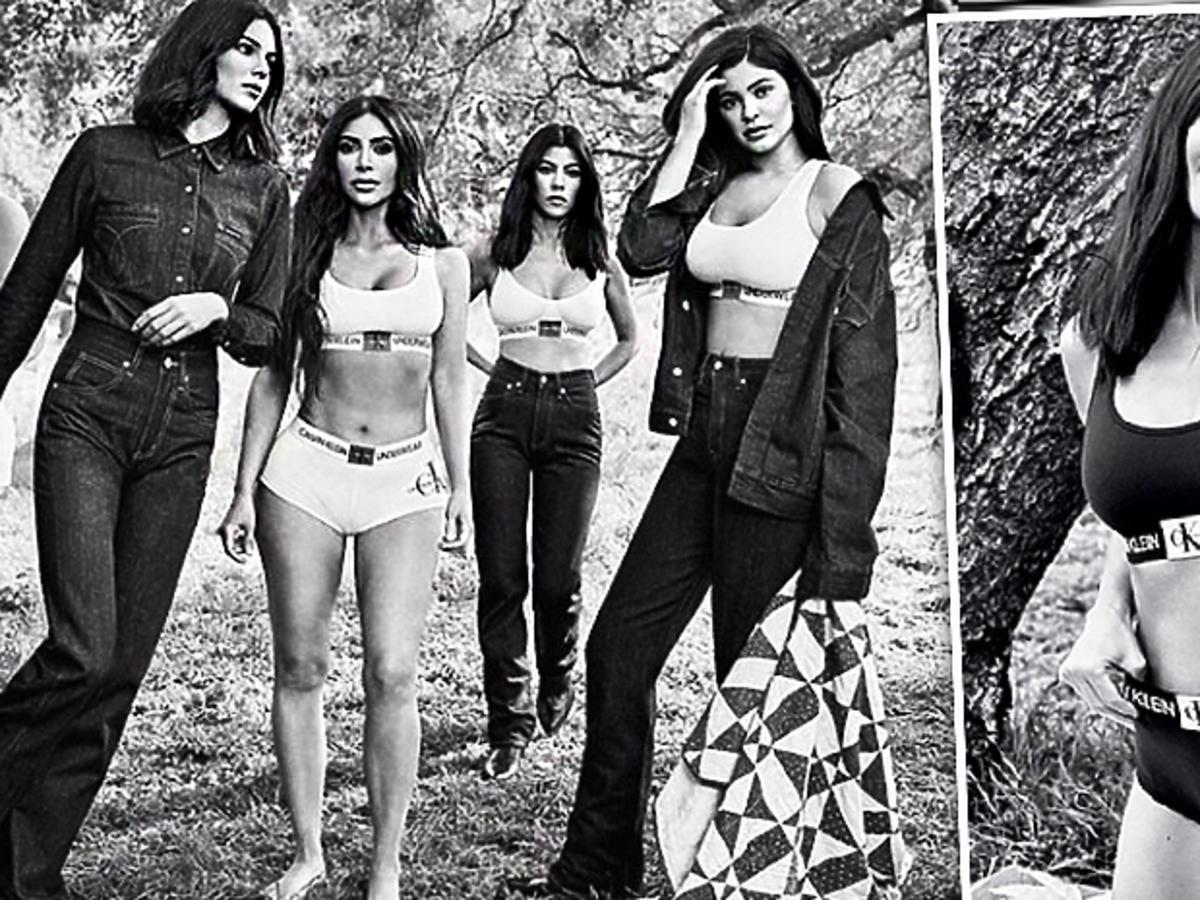 Kourtney Kardashian w reklamie Calvin Klein
