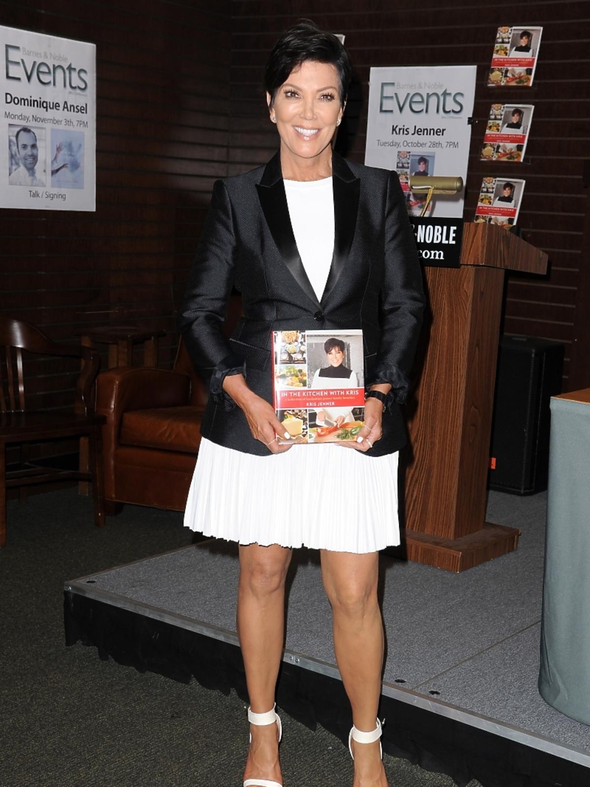 Kris Jenner na promocji swojej książki