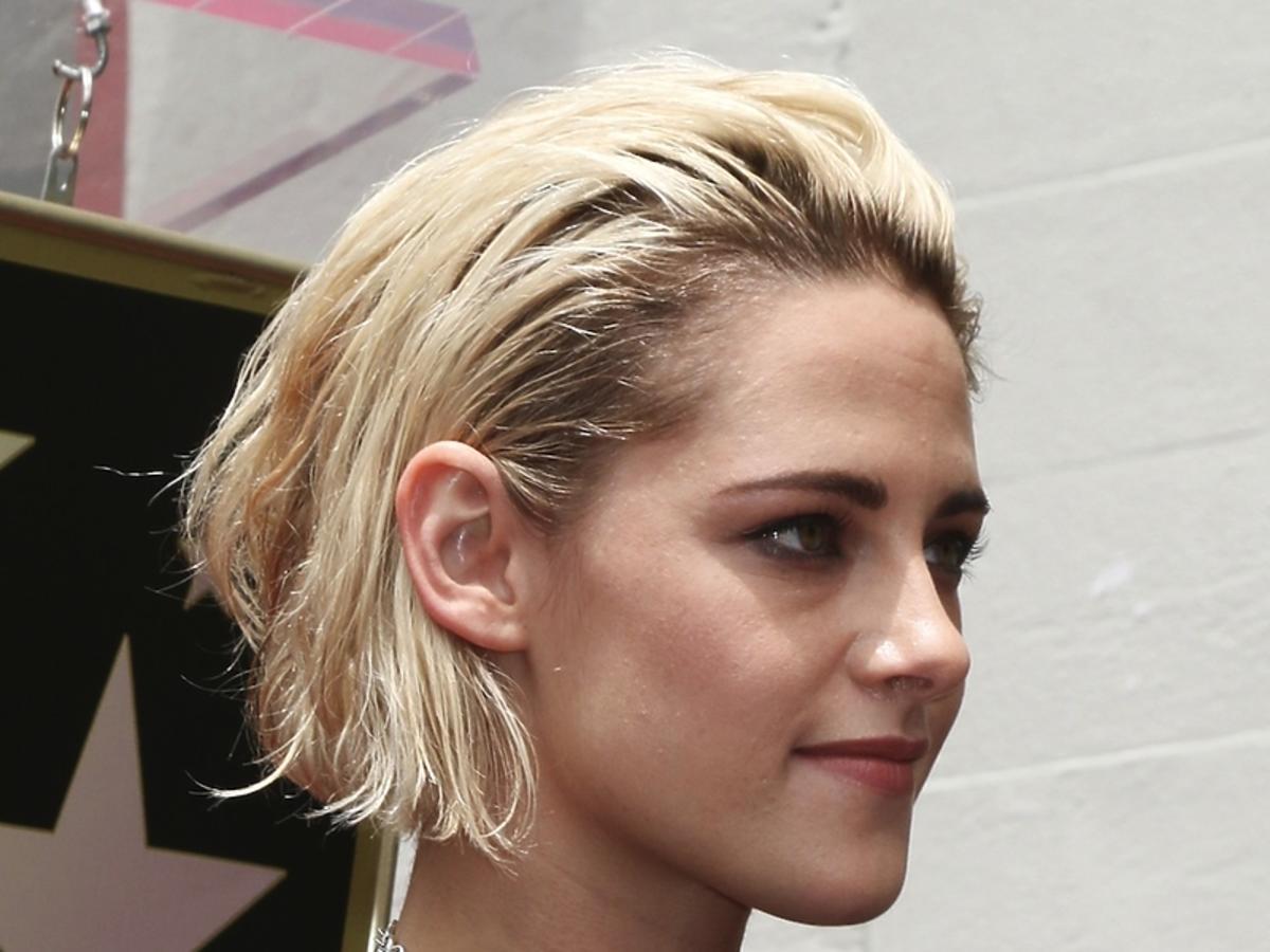 Kristen Stewart w blond włosach