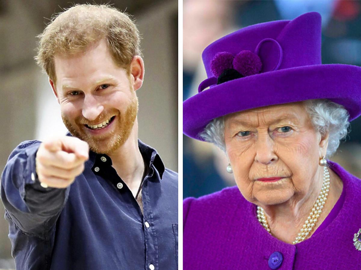 Królowa Elżbieta II Książę Harry
