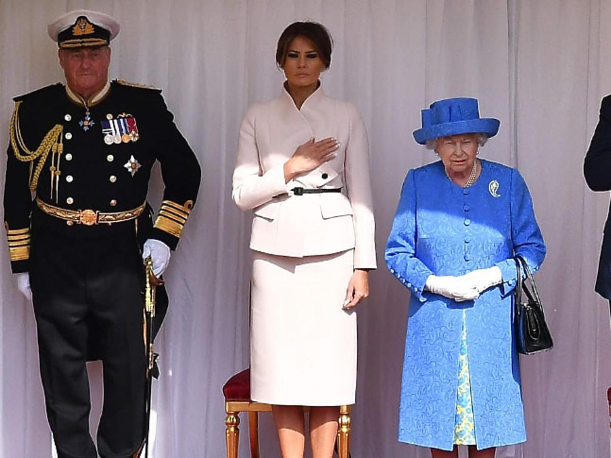 Królowa Elżbieta II, Melania Trump, Donald Trump