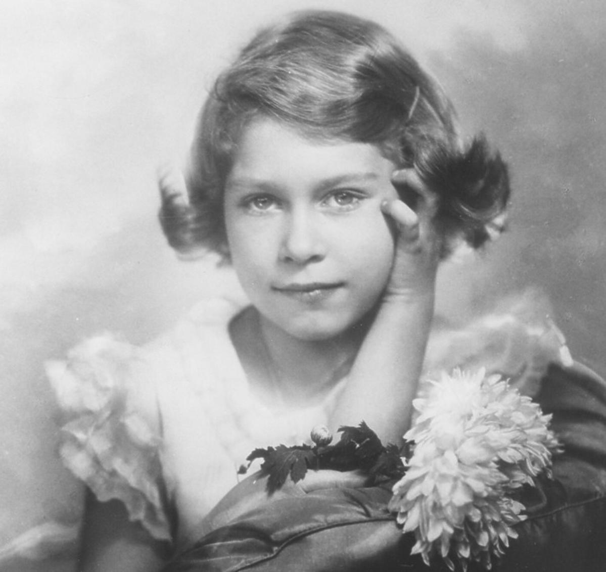 Królowa Elżbieta II w dzieciństwie