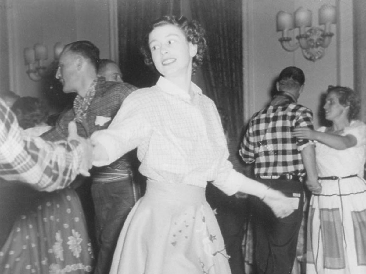 królowa Elżbieta II w młodości