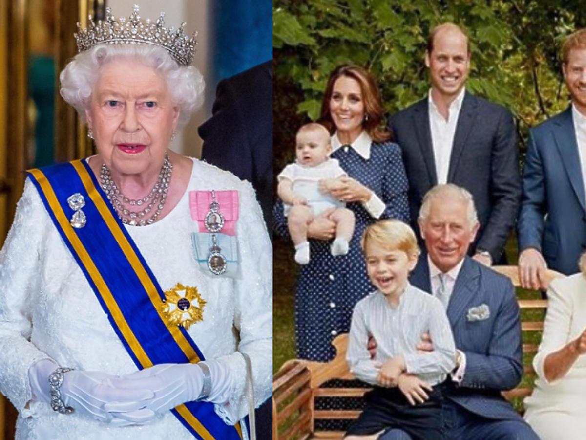 Królowa Elżbieta na zdjęciu z okazji 70. urodzin Karola