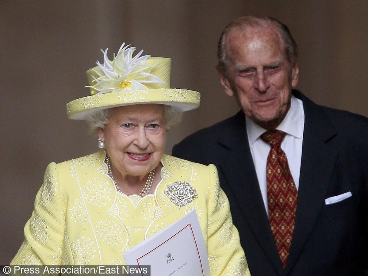 Królowa Elżbieta z mężem